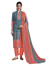 Ladyline Casual Bandhani Style Printed Pure Cotton Salwar Kameez with Cotton Dupatta Indian Dress