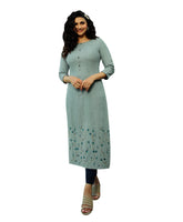 Handwork Embroidery Sober Kurta with Pants set Indian Kurti Tunic for Women