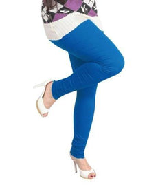 Blue Premium Soft Cotton Churidar Leggings