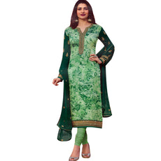 Ladyline Designer Embroidered Salwar Kameez Georgette Chiffon Partywear Womens Indian Dress Readymade