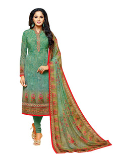 LADYLINE Womens Partywear Salwar Kameez Georgette Embroidered & Printed