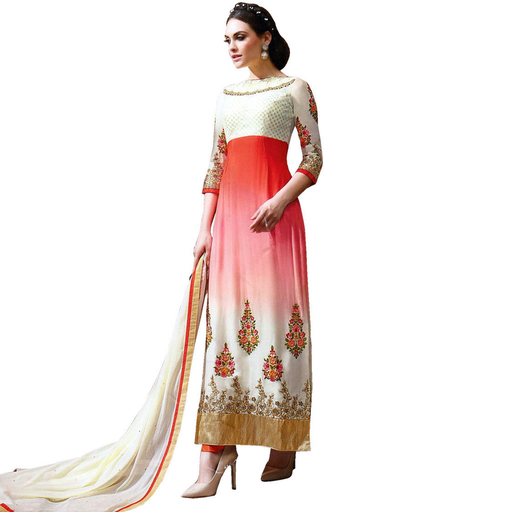 Designer Wedding Bollywood Georgette Embroidered Salwar Kameez Suit Indian Dress