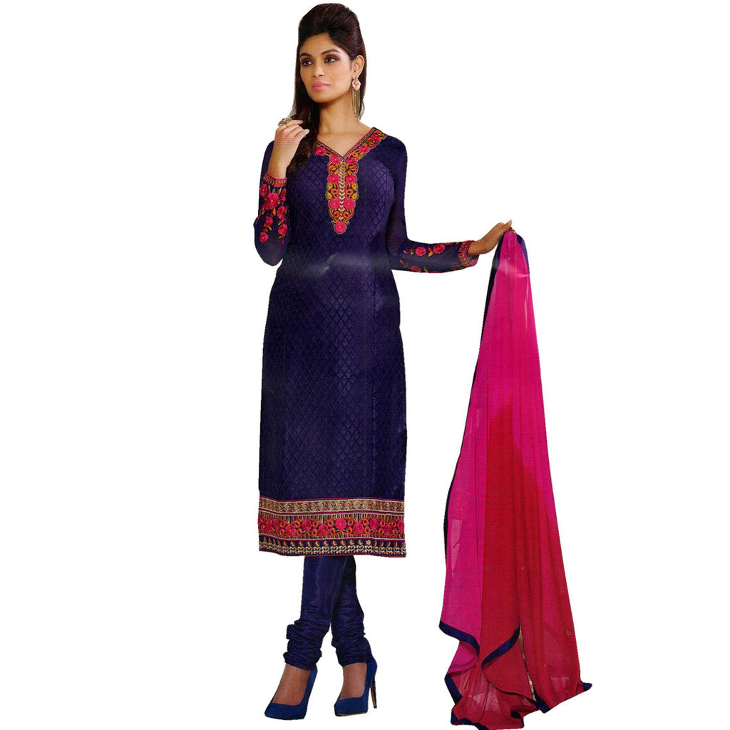Designer Party Wear Bollywood Georgette Embroidered Salwar Kameez Suit Indian