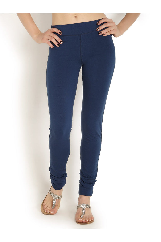 Navy Blue Pain 100% Cotton Churidar Tights Indian