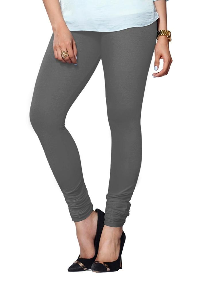 Gray Premium Soft Cotton Churidar Leggings