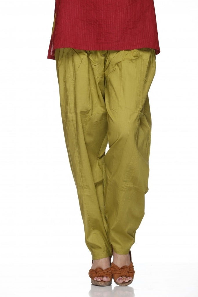 Lyril Plain Cotton Regular Salwar Pant