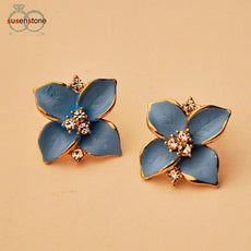 Women's Flower Type Ear Stud Earrings