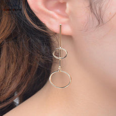 SUSENSTONE Fashion Female Earrings Copper Earrings