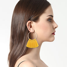 Fashion Earrings Women Long Tassel Fringe Dangle Earrings Jewelry
