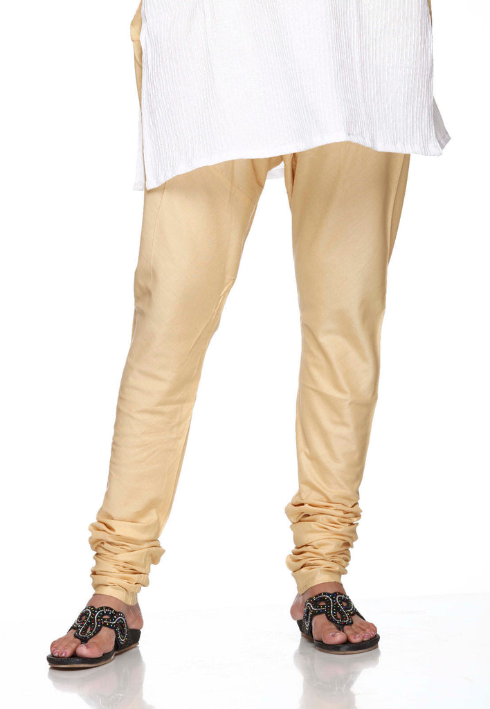 Beige Pain 100% Cotton Churidar Tights Indian