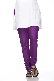 Purple Pain 100% Cotton Churidar Tights Indian