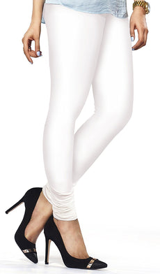 White Premium Soft Cotton Churidar Leggings