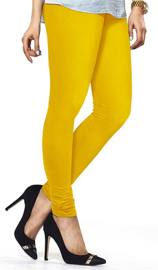 Yellow Premium Soft Cotton Churidar Leggings