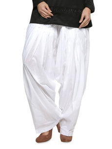 Off White Pain Cotton Patiala Salwar Pants
