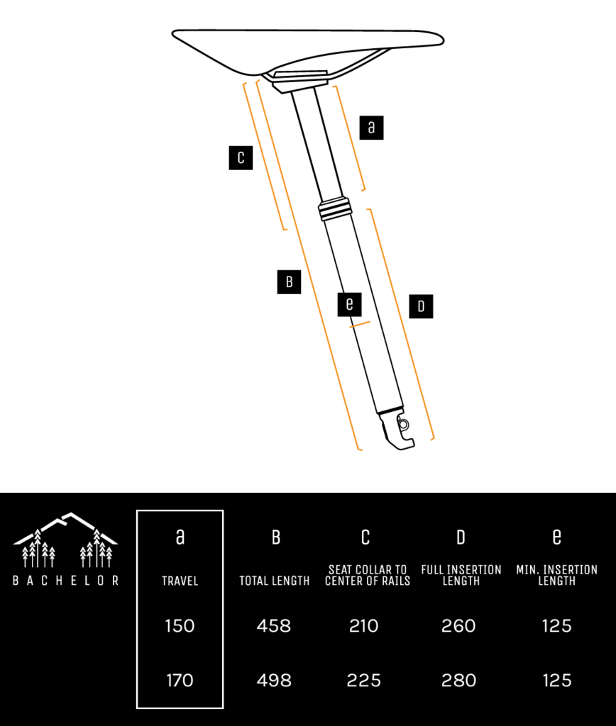Bachelor Seatpost Measurements