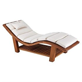 Living Earth Crafts Teak Wave Lounger