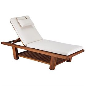 Living Earth Crafts<BR>Teak Chaise Lounger