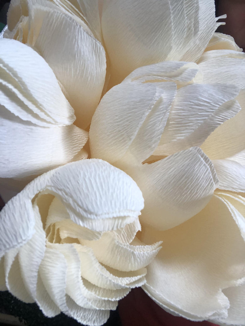 Giant Paper Flowers and Luxury Fashion