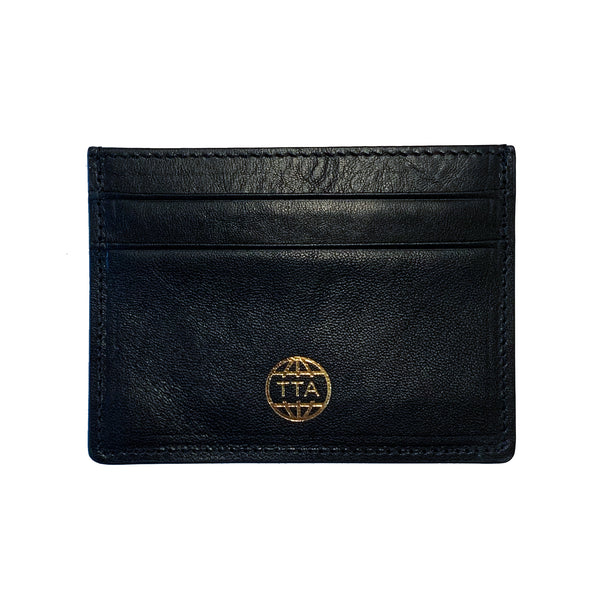 TTA GLOBE CC WALLET - Black & Gold