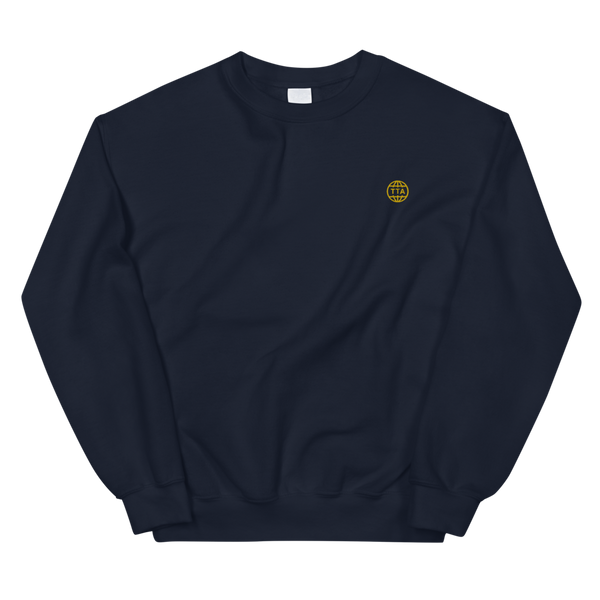 TTA GLOBE sweater - Gold on Navy