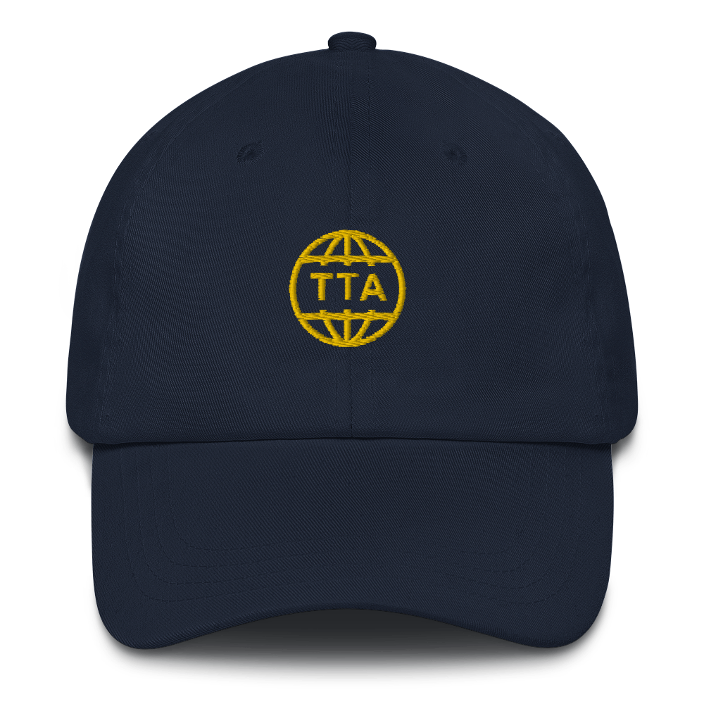 TTA GLOBE CAP - Gold on Navy