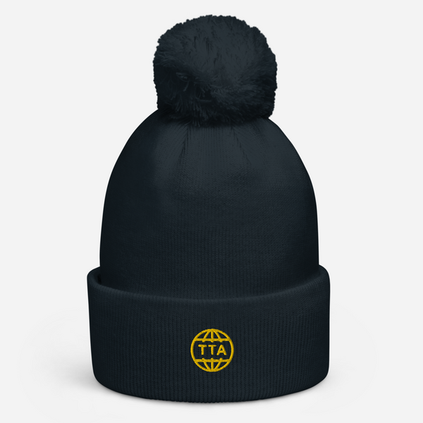 "TTA GLOBE ""POM POM"" - Gold on Navy"