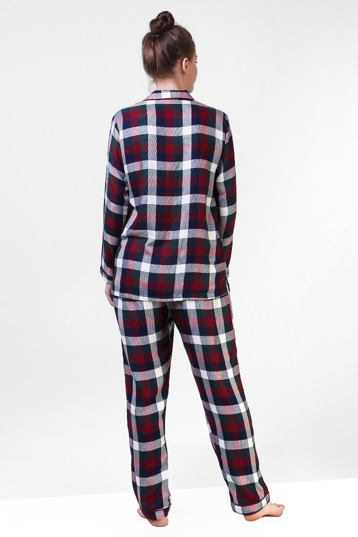 Wine And Blue Plaid Playful Jammies Set