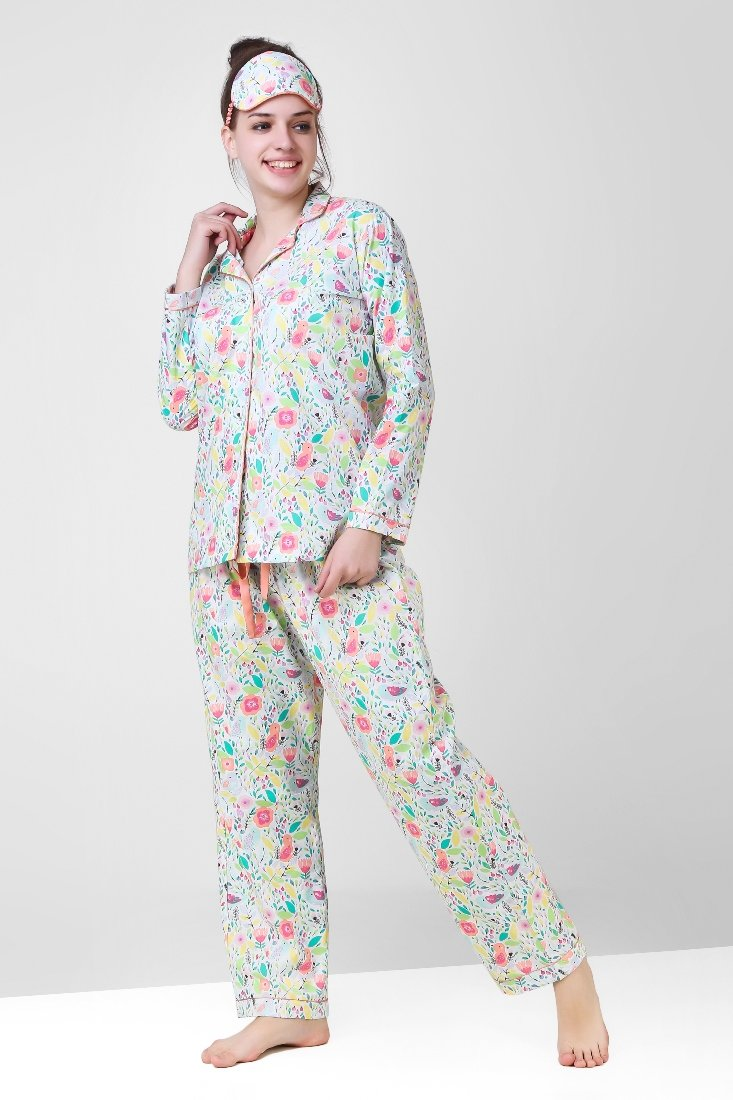 The Pink Elephant Bloom All Over Playful Jammies Set