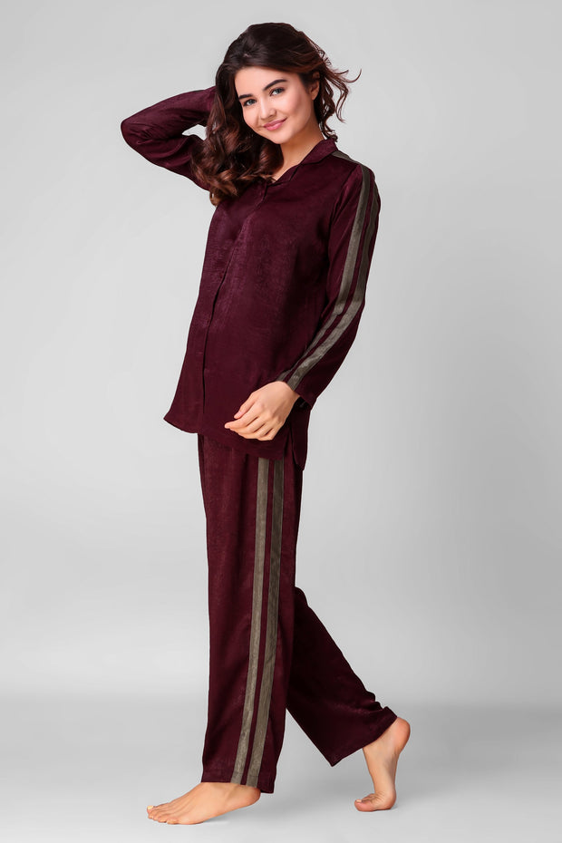 Wine & Stripy Jammies Set