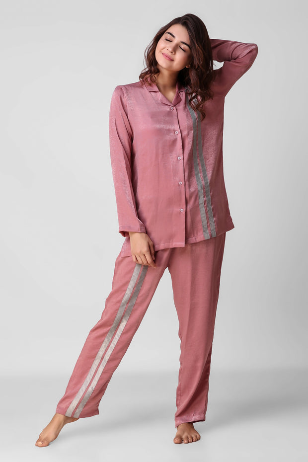 Pink Stripy Full Jammies Set