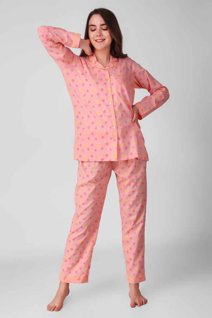 Neon Polkas Jammies Set
