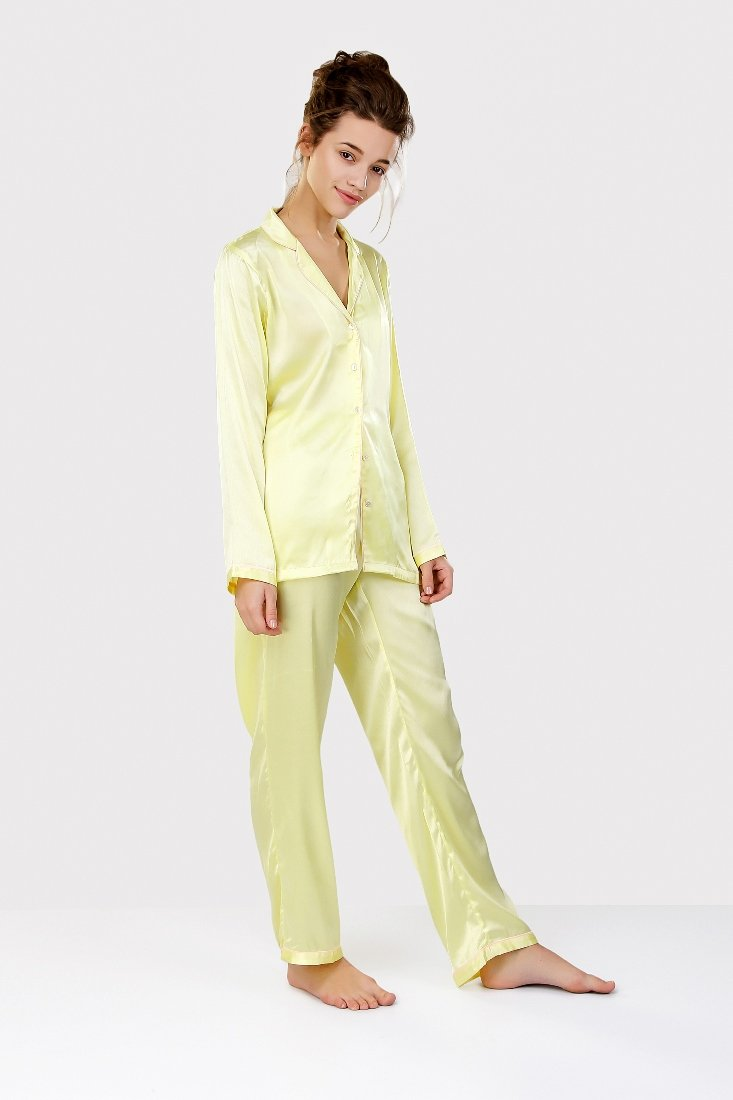 Lemon Satin Nightsuit