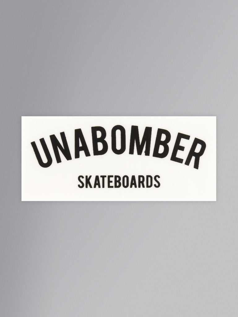 Unabomber 'Arch' Sticker. Black/White.