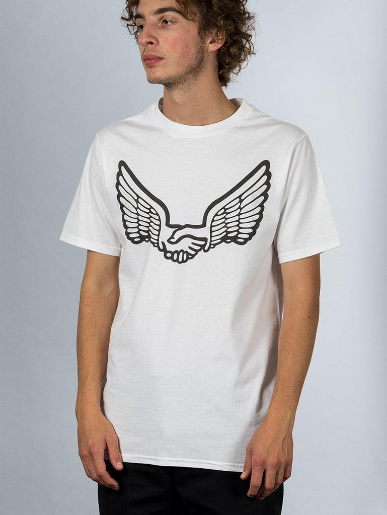 Unabomber 'Wings' Tee. White 3M reflective.