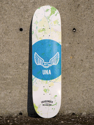 "Unabomber Will Golding 'Map' Deck. 8.25""."