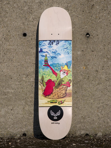 "Unabomber Will Golding 'Robin' Deck. 8""."