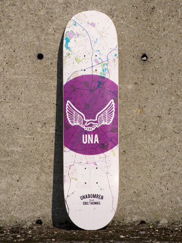 "Unabomber Eric Thomas 'Map' Deck. 8""."