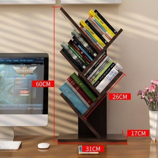 Creative Study Bookcase Tree Shaped
