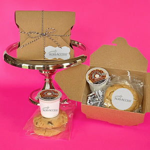 Artisanal - 2 Cookies & 1 KCups in a Kraft Box