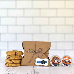 Artisanal - 4 Cookies & 2 KCups in a Kraft Box