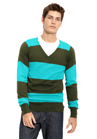 Hurley 'Quad' Stripe V-Neck Sweater
