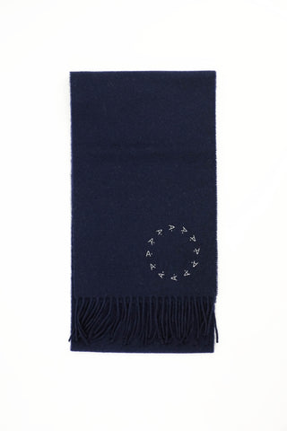 100% Scottish Lambswool Scarf [Navy]