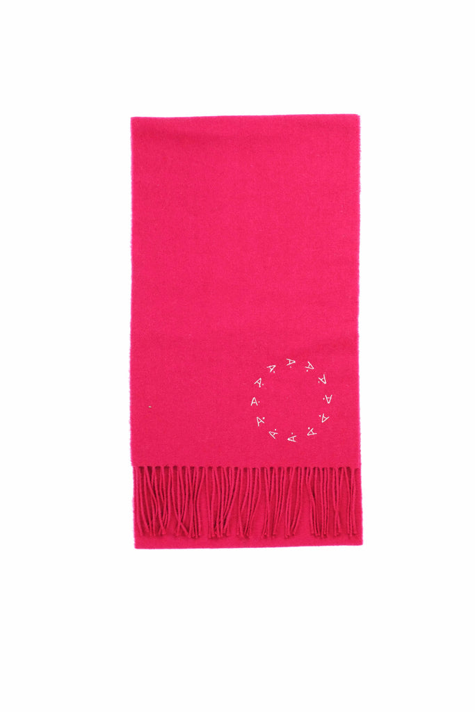 100% Scottish Lambswool Scarf [Cranberry]