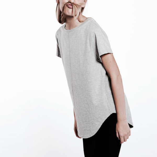Womens Dipped Tee [Grey]