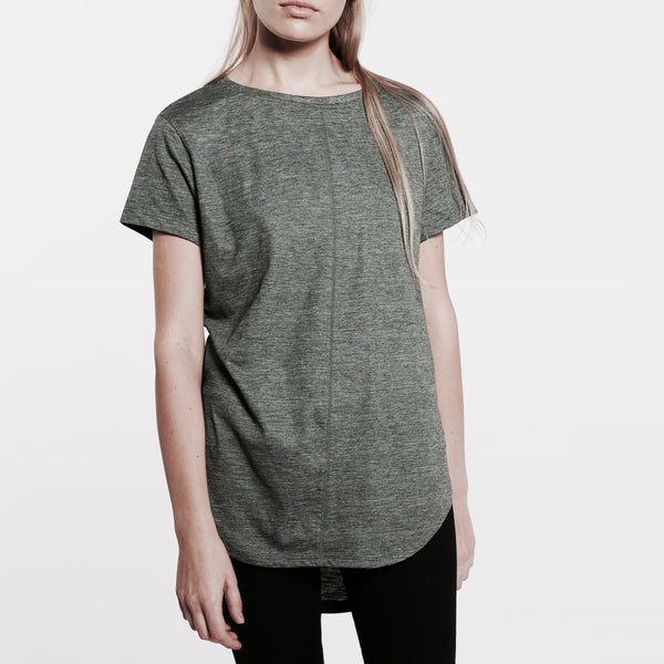 Womens Dipped Tee [Green]