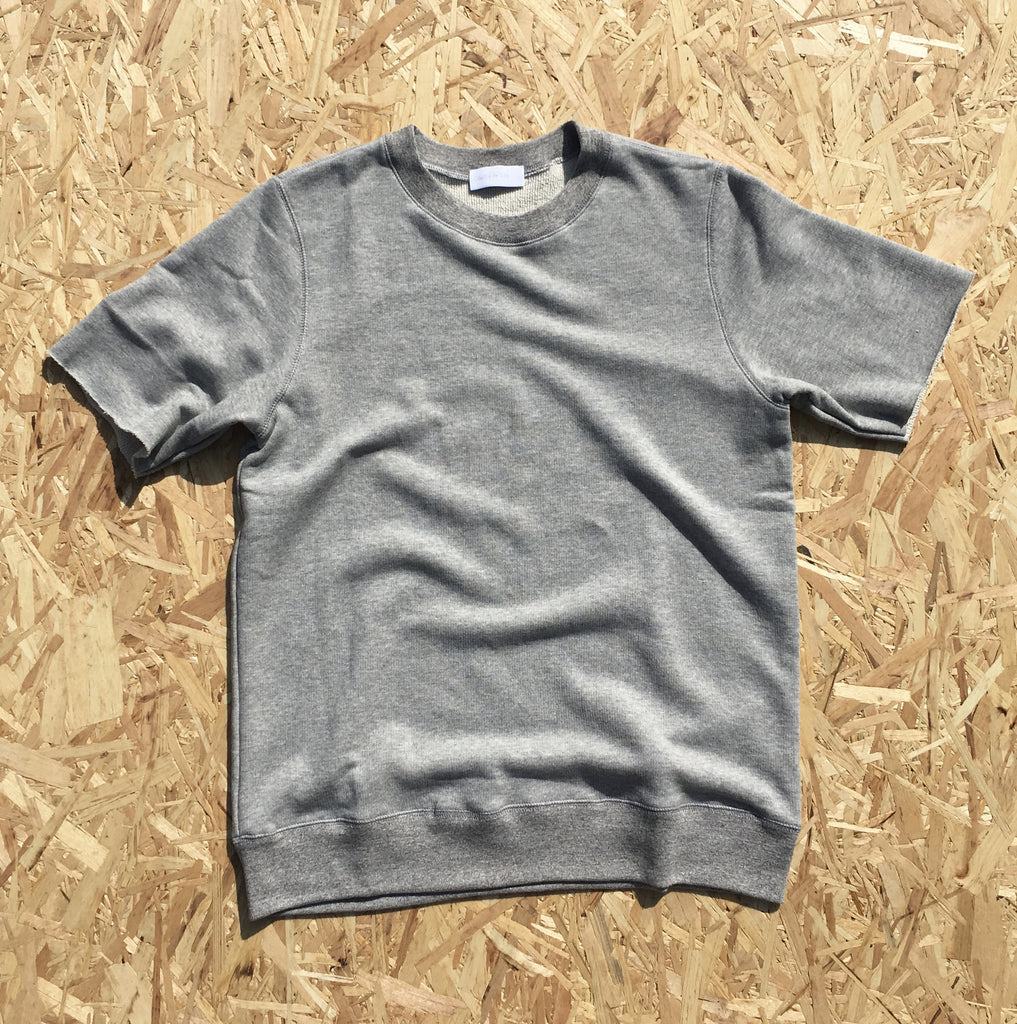Loopback Sweat Tee [Grey Marl]