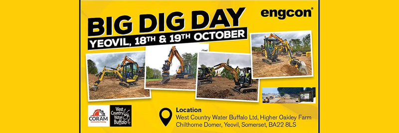 Engcon Big Dig Day. Yeovil 18th - 19th October