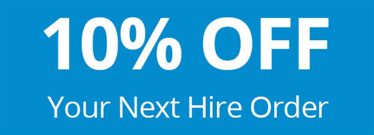 10% Off Website Prices on Your Next Hire Order