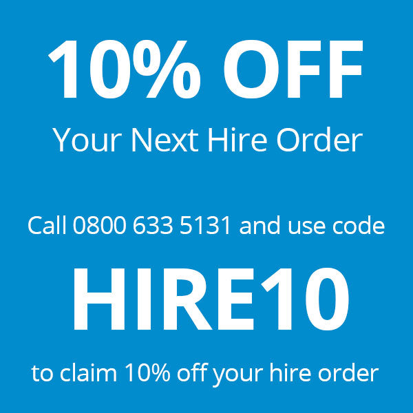 10% off your next hire order