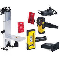 Laser level accessories including tripods, detectors, clamps, wall brackets, chargers, batteries and more.
